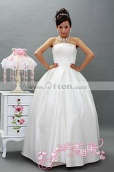 Strapless Silk Wedding Dress Bridal Veil for Wedding Party