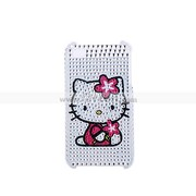 Cute Rhinestone Kitty Hard Case Cover for iPhone 4 4G