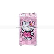 Lovely Rhinestone Kitty Hard Case Cover for iPhone 4 4G