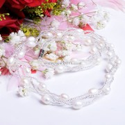 Jewelry Set freshwater Pearl Necklace bracelet Earring gift