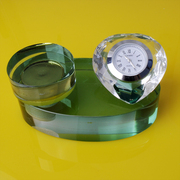 Pretty Crystal Heart Perfume Bottle with Quartz Watch-green