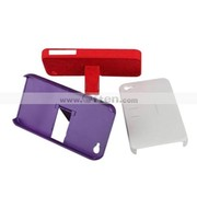 Silicone Protective Case for iPhone 4 - Grid (3 Colors Per Pack)