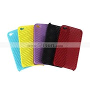 Silicone Protective Case for iPhone 4 - Grid (5 Colors Per Pack)