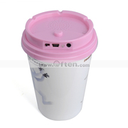 Free Shipping:Fashion Music Cup Stereo Mini Speaker Mug Speaker-PINK