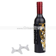 Free Ship:Mini Wine Bottle Card Speaker FM MP3 Player Remote Control