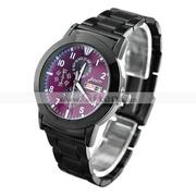 J-three Japanese-Quartz Movement Round Case Wrist Watch for Man/Woman(