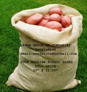 JUTE HESSIAN BURLAP POTATO BAGS FROM BANGLADESH